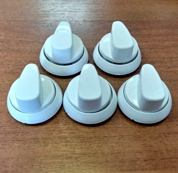 Набор ручек для газовой плиты Норд нового образца (белые)