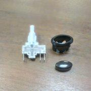 Кнопка розжига ПКН-506 (коричневая, овал) для плиты Гефест.