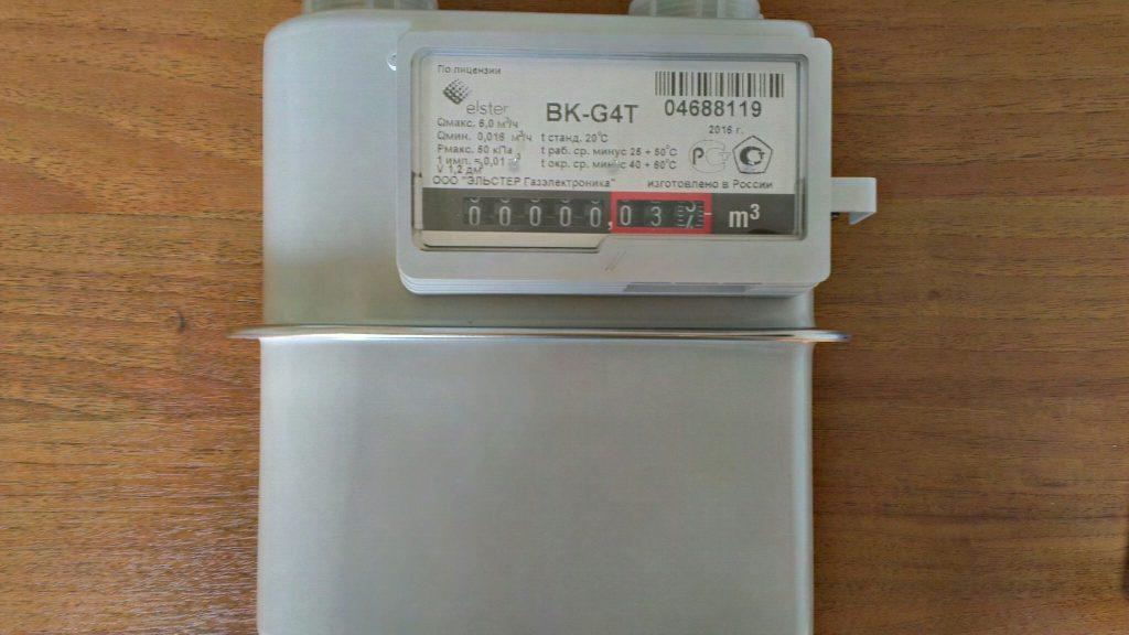 Счетчик газа ВК G4Т левый