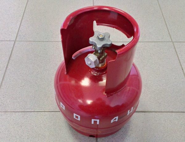 Баллон газовый НЗГА 5 литров (с вентилем)