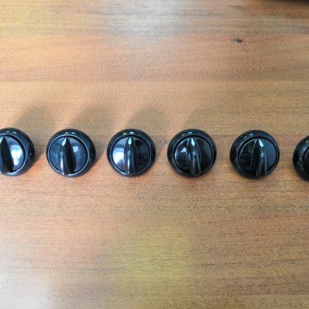 Набор ручек для плиты Гефест 3200, 1200 (черные)