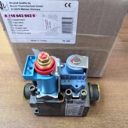 Газовый клапан для газового котла Bosch 6000, Buderus Logomax U072 (87186439430)
