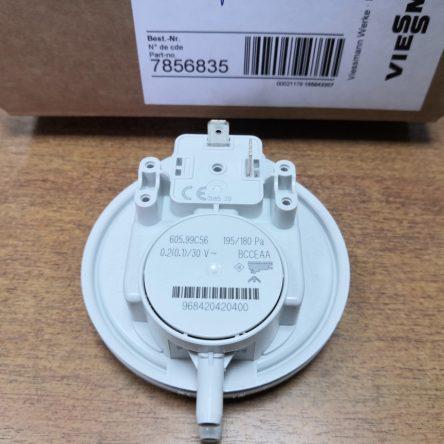 Пневмореле для газового котла Viessmann Vitopend 100W A1JB, A1HB 195/180 Ра (7856835)