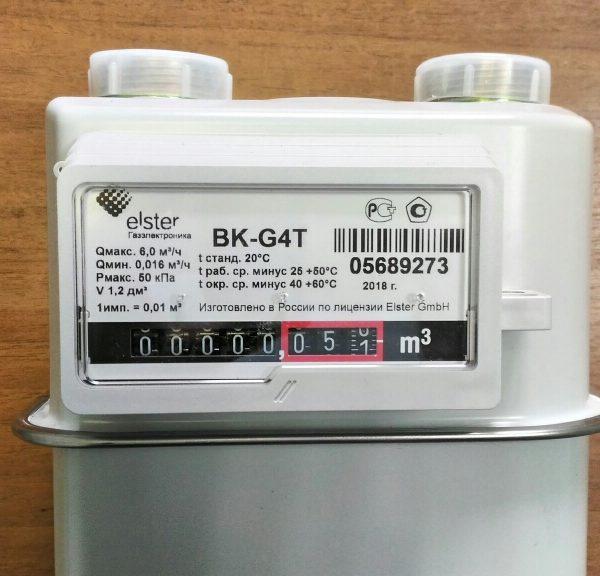 Счетчик газа ВК G4Т правый