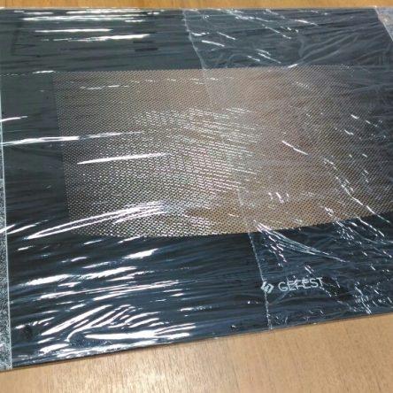 Стекло наружное Гефест 1200 черный мрамор 598*443 мм